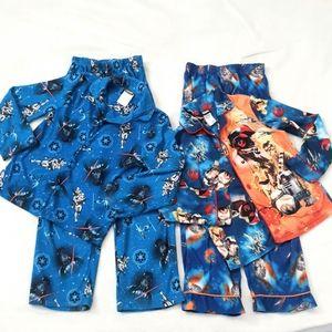 2 Starwars Pajama Sets Size 8
